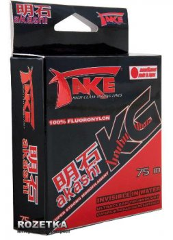 Леска Lineaeffe Take Akashi Kilo Fluoronylon 75m 0.30mm 14.0kg (3044030)