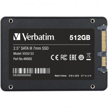 """Накопитель SSD 2.5"""" 512GB Verbatim (49352)"""