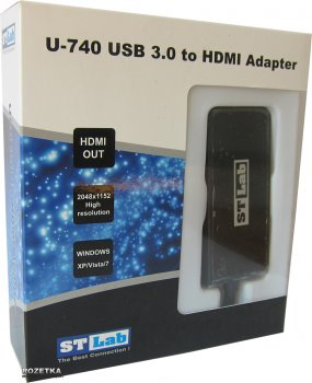 Адаптер STLab USB 3.0 - HDMI 1.3 (U-740)