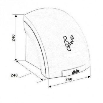 Сушилка для рук электрическая настенная сенсорная автоматическая пластиковая AIRLINE 1750W Белая