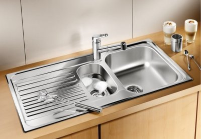 Кухонна мийка BLANCO TIPO 6 S (511929) + зливний гарнітур (214301)