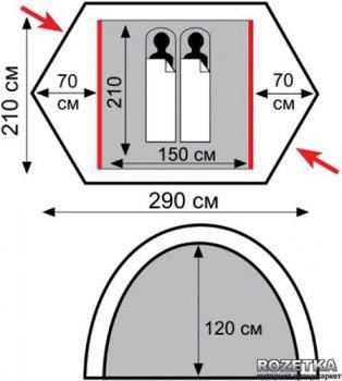 Палатка Tramp Rock 2 (v2) (TRT-027)