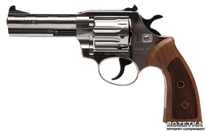 """Револьвер Alfa мод 441 Classic 4"""" (нікель, дерево) 144919/11 (14310050)"""