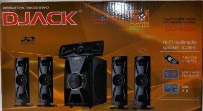Акустична система комплект 5.1 Djack DJ-405 Потужність 100Ват акустика ( USB/ FM-радіо/ Bluetooth )