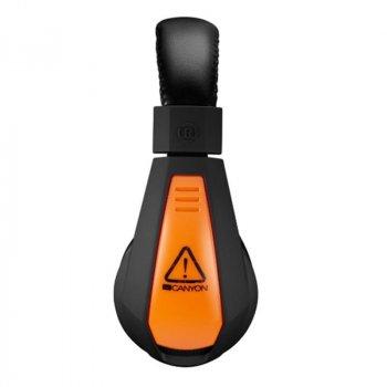 Игровые наушники Canyon CND-SGHS1A Black/Orange