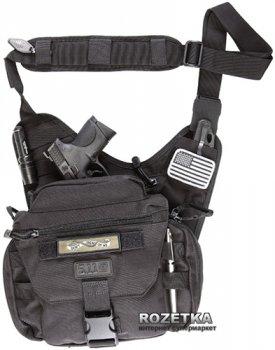 Сумка-кобура тактична оперативна плечова 5.11 Tactical PUSH Pack 56037 Чорний (2000000149745)
