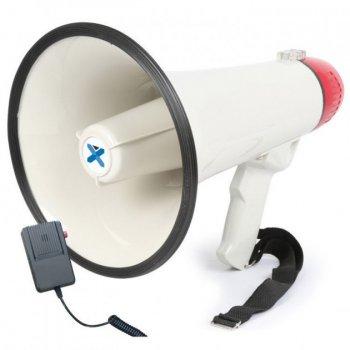 Громкоговоритель мегафон HW 20B рупор 30 Вт Бело-черный с красным