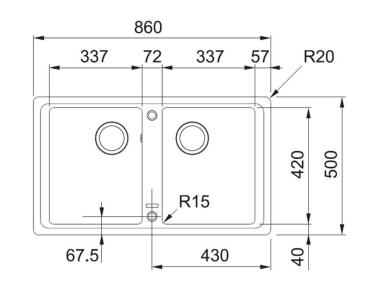 Кухонна мийка FRANKE BASIS BFG 620 (114.0363.940) онікс