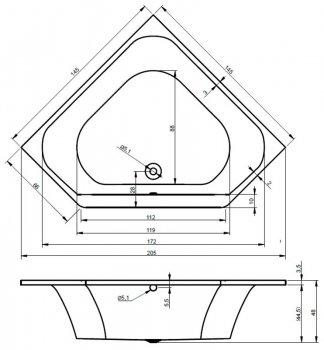 Ванна акриловая DEVIT GREDOS 14514129 (145)