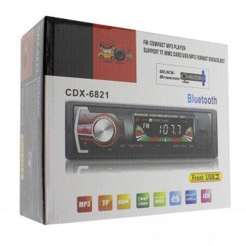 Автомагнитола 1DIN MP3 CDX-6821 /Bluetooth