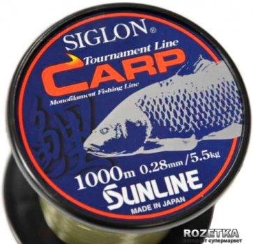 Леска Sunline Siglon Carp 1000 м 0.28 мм 5.5 кг Коричневая (16580569)
