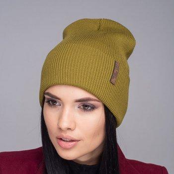 Женская шапка Ultraleks Бини Оливковый (3301)