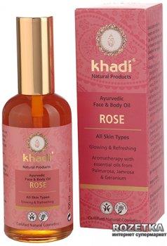 Аюрведичне масло Khadi Троянда для обличчя та тіла 100 мл (4260378040398)