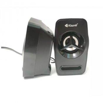 Мощные портативные Колонки Kisonli для ПК Сабвуфер USB
