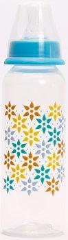 Бутылочка для кормления Lindo PK054 с силиконовой соской 250 мл Голубая (8850215000546)
