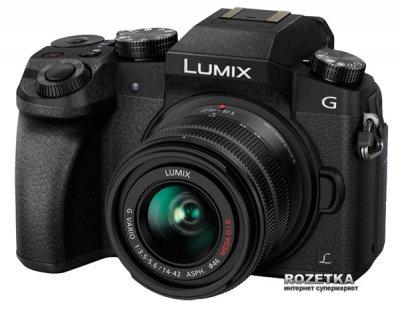 Фотоапарат Panasonic Lumix DMC-G7 Kit 14-42mm Black (DMC-G7KEE-K) Офіційна гарантія