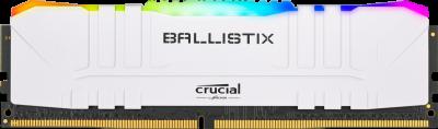 Оперативна пам'ять Crucial DDR4-3600 8192 MB PC4-28800 Ballistix RGB White (BL8G36C16U4WL)