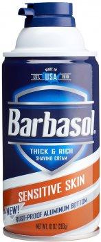 Крем-пена для бритья Barbasol Чувствительная кожа Sensitive Skin Shaving Cream 283 г (051009009600)