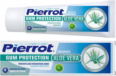 Зубная паста Pierrot для защиты десен с алое вера 75 мл Ref. 74 (8411732107424)