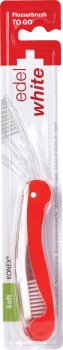 Дорожная зубная щётка-флос Edel White со щетиной Konex Розовая (130-118-1)
