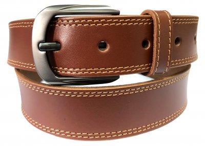 Мужской ремень кожаный Sergio Torri 1-046 125 см Темно-коричневый (2000000001920)