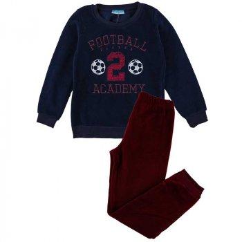 Пижама теплая флисовая для мальчика MATILDA 7536-4 темно-синий (433006)