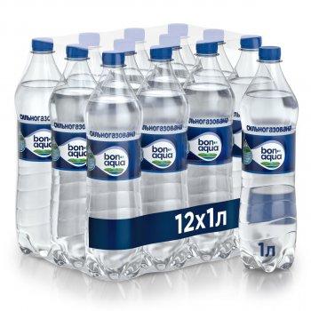 Упаковка минеральной газированной воды BonAqua 1 л х 12 бутылок (5449000026583)