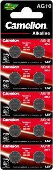 Батарейки Camelion AG 10 LR1130 10 шт (AG10-BP10)