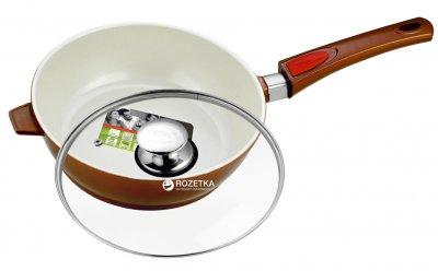 Сковорода Calve с крышкой и съемной ручкой 24 см (CL-1928)