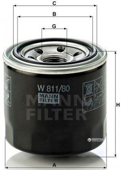 Фильтр масляный MANN W 811/80 - W 817/80