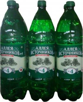 Упаковка минеральной лечебно-столовой сильногазированной воды Ессентуки Аллея Источников №4 1.5 л х 6 бутылок (4607035260285_4607035261312)