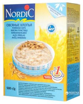 Хлопья овсяные NordiC 500 г (6416597838409)