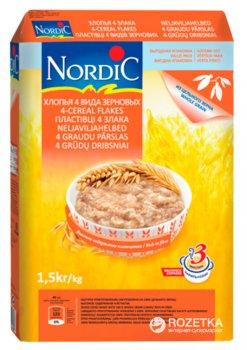 Хлопья NordiC 4 вида зерновых 1.5 кг (6411200104469)