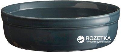 Форма порционная для крем-брюле Emile Henry HR Oven Ceramic Ovenware 13 x 13 x 3.5 см Голубая (971013)