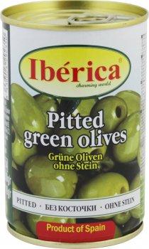 Оливки зелені без кісточки Iberica 420 г (8436024295405)