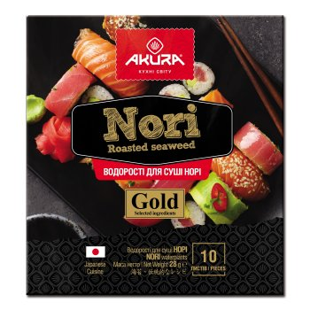 Норі Akura Gold 10 аркушів (4820178460538)