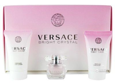 Набор для женщин Versace Bright Crystal Mini туалетная вода 5 мл + гель для душа 25 мл + лосьон для тела 25 мл (8011003994403/8011003810420)