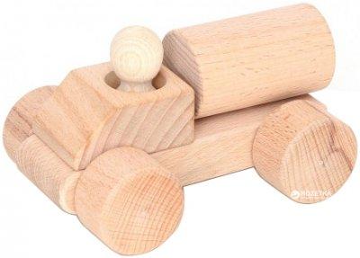 Деревянная каталка-конструктор Руді Водовоз 4 детали Неокрашенный (Ду-04н)