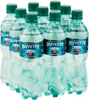 Упаковка минеральной сильногазированной воды Buvette №7 0.5 л х 9 бутылок (4820115400047)
