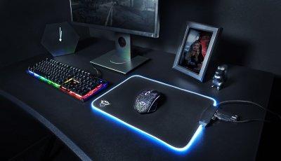 Килимок Trust GXT 765 Glide-Flex RGB Mouse Pad with USB Hub Black