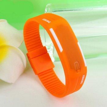 Женские электронные часы Skmei Orange наручные спортивные на силиконовом ремешке + коробка (1080-0647)