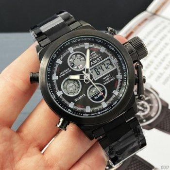 Наручные часы AMST 3003 All Black Metall мужские армейские + подарочная коробка
