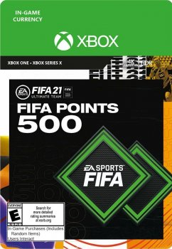 Поповнення рахунку ігри Xbox One FIFA 21 на 500 FUT очок (Xbox One)