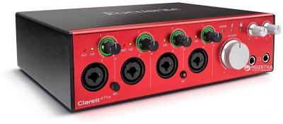 Аудіоінтерфейс Focusrite Clarett 4 Pre (221268)
