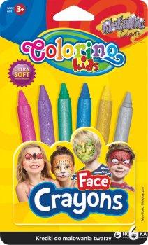 Краски для лица Colorino Metallic 6 цветов (65917PTR)