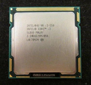 Б/У, Процесор, Intel® Core™ i3-550, 4 МБ, 3,20 Ггц