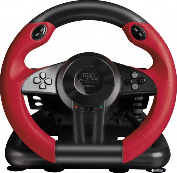 Дротове кермо SPEEDLINK Trailblazer Racing Wheel PC/Xbox One/PS3/PS4 Black/Red (SL-450500-BK)