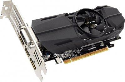 Gigabyte PCI-Ex GeForce GTX 1050 TI OC Low Profile 4GB GDDR5 (128bit) (1303/7008) (DVI, 2 x HDMI, DisplayPort) (GV-N105TOC-4GL)