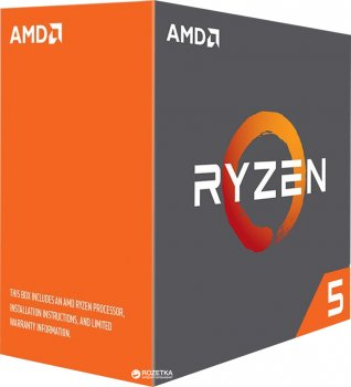 Процесор AMD Ryzen 5 1600X 3.6GHz/16MB (YD160XBCAEWOF) sAM4 BOX
