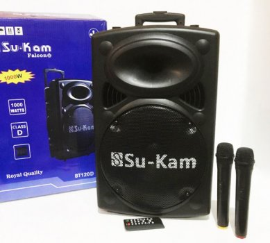 Акустическая система + 2 радиомикрофона 120W Su-Kam (BT120D) Черный
